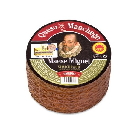 Queso Manchego DOP Semi Curado 500 gr / Fromage Manchego DOP, mi affiné, 500 gr