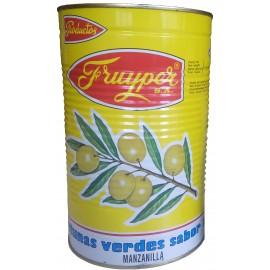 Olives vertes au goût d'anchois, avec noyau