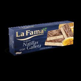 Turrón crème pâtissière et biscuit / Turrón natillas con galleta