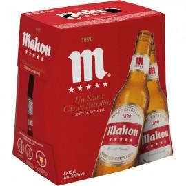 Pack 6 bouteilles Bières Mahou 5 Estrellas
