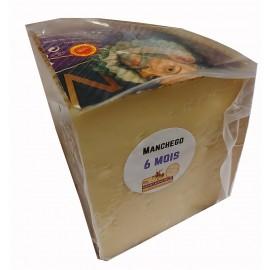 Fromage Manchego DOP, 6 mois d'affinage / Cuña de queso Manchego curado