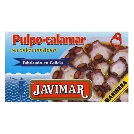 Poulpe / calamar à la sauce marinière (salsa marinera)