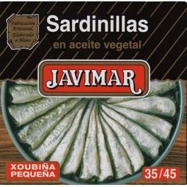 Petites sardines à l'huile végétale 35/45 (Sardinillas)