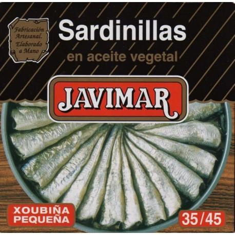 Sardinillas en aceite vegetal 35 / 45  (Petites sardines)