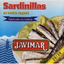 Petites sardines à l'huile végétale 20/30 (Sardinillas)