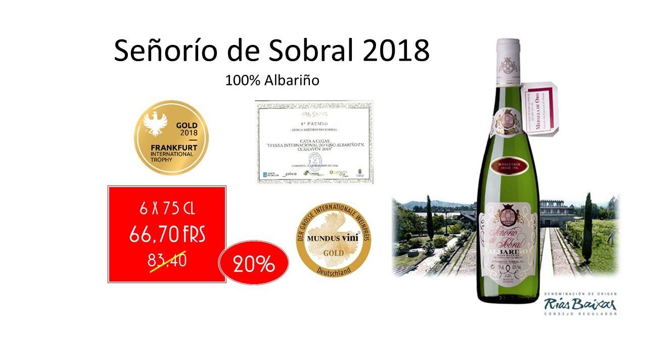 Albariño Señorío de Sobral 2018